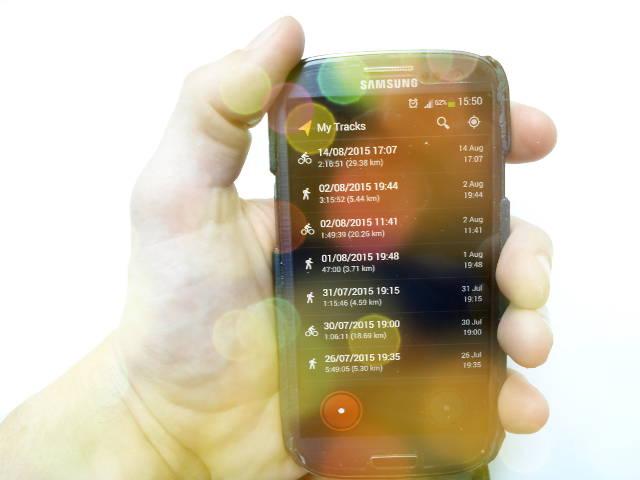 MyTracks на смартфоне