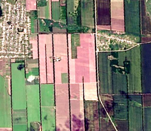 Мультиспектральный космоснимок, пространственное разрешение — 15 м