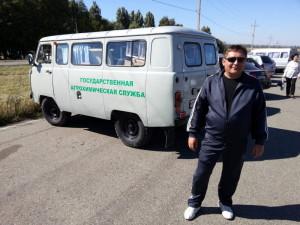Водитель агрохимцентра Шабанов А.Г.