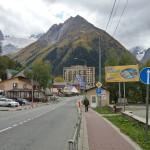 Посёлок Домбай с восхитительным видом на горы
