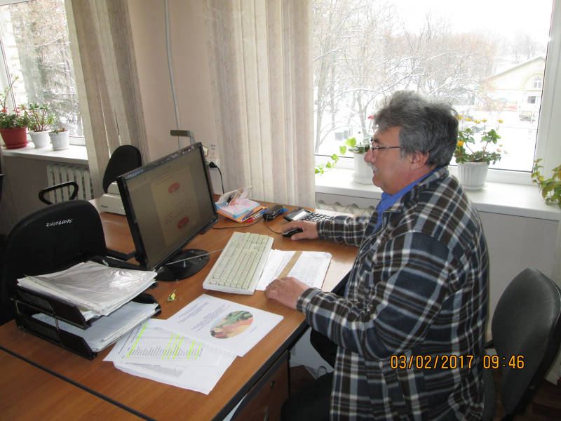 Подготовку информации проводит главный агрохимик Давыскиба А.А.