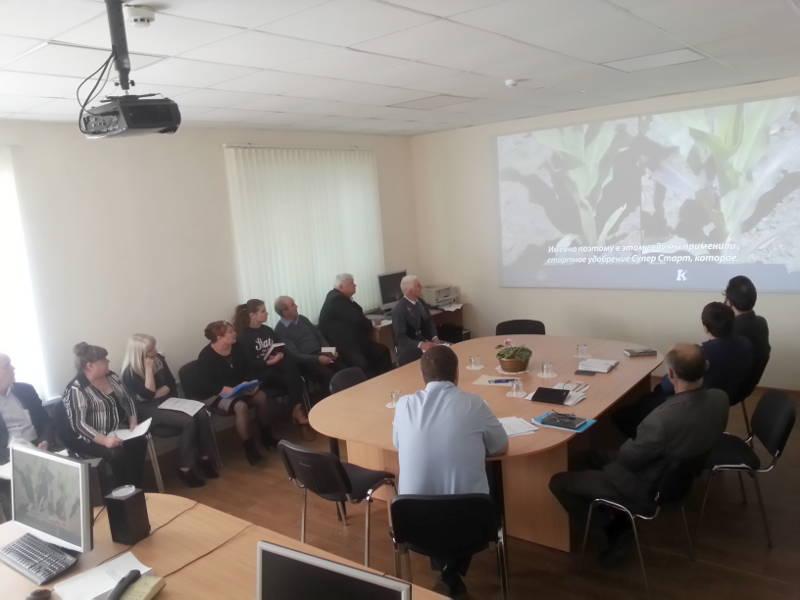 Руководство ФГБУ ГЦАС «Ставропольский» и районные агрохимимики проводят семинар совещание