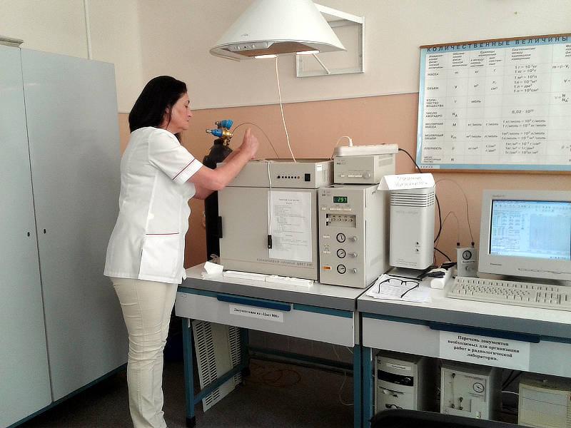 Определение эруковой кислоты в пробах рапса, определяемых на хроматографе «ЦВЕТ-800». Анализ проводит ведущий агрохимик аналитического отдела ‑ Прудникова Е.В.