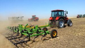 Демонстрация сельхозтехники в работе