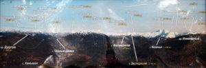 Карта местных горных вершин