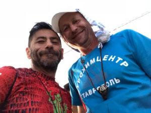 После финиша. С мексиканским другом Фиделем