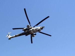 Боевой вертолёт Ми-28Н в небе