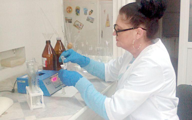 Определение м.д. нефтепродуктов в пробах почв. Гл.агрохимик ИЦ (лаборатории) Елена Валентиновна Прудникова