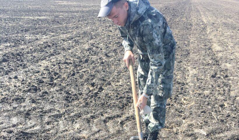 Полевое обследование земель с/х назначения проводит инженер по НТГИ I категории Абазов Р.А.