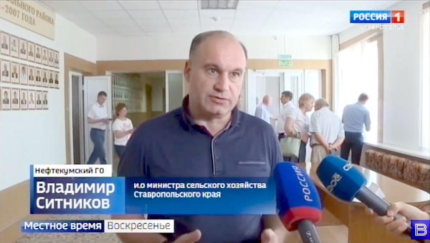 Глава аграрного ведомства Ставропольского края Владимир Ситников