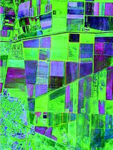 Оцифровка исследуемых участков по космоснимку