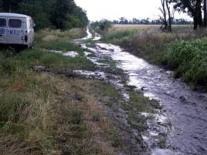 Так выглядят дороги после дождя