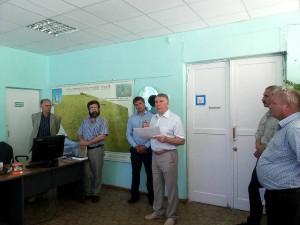 Обсуждение картограммы провел директор А.И.Подколзин с сотрудниками ФГБУ ГЦАС «Ставропольский»