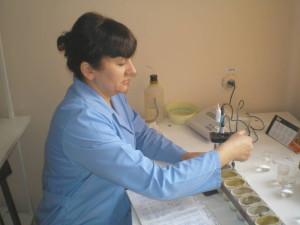 Определение нитратного азота в пробах почвы. Агрохимик ‑ Полякова Н.Н.