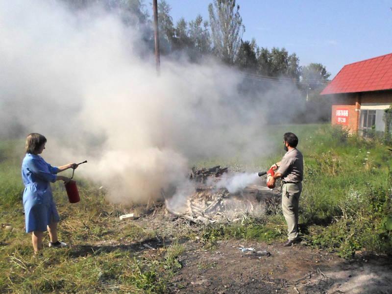 Подготовка и проведение тренировки по эвакуации и тушению условного пожара