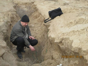 Измерение мощности смытого слоя почвы