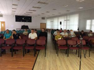 Олейников А.Ю. в лекционном зале