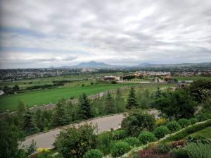 Территория монастыря с видом на Бештау