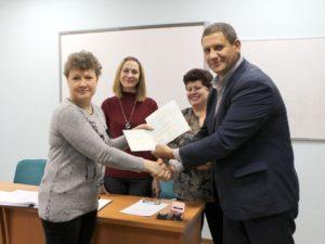 Вручение диплома агрохимику I категории ‑ Тищенко О.Н.