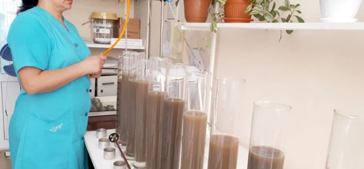 Фото. Определение гранулометрического состава в пробах почв