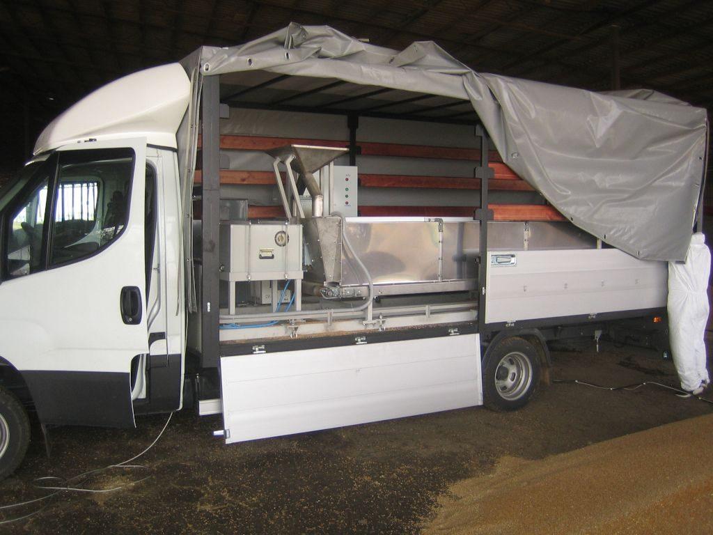 Установка по обработке семян СВЧ выполненная на базе грузового автомобиля Iveco