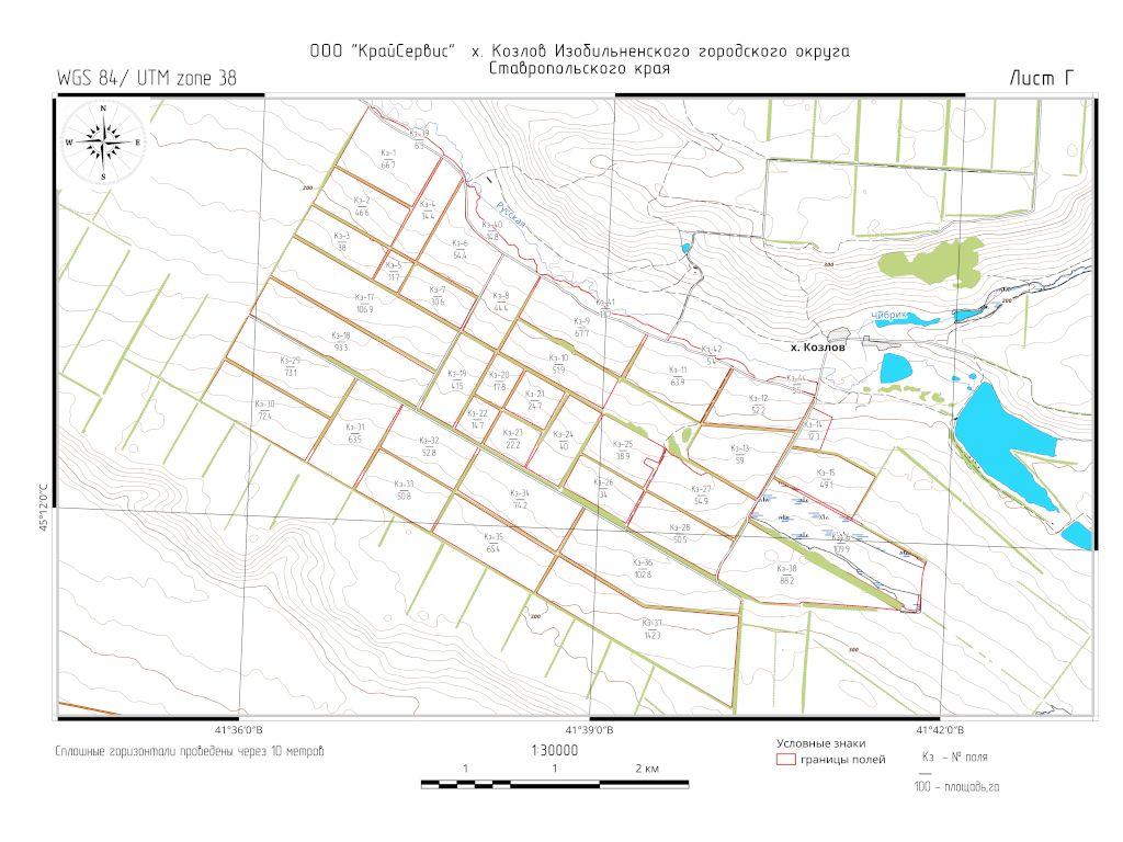 Топографическая карта-схема