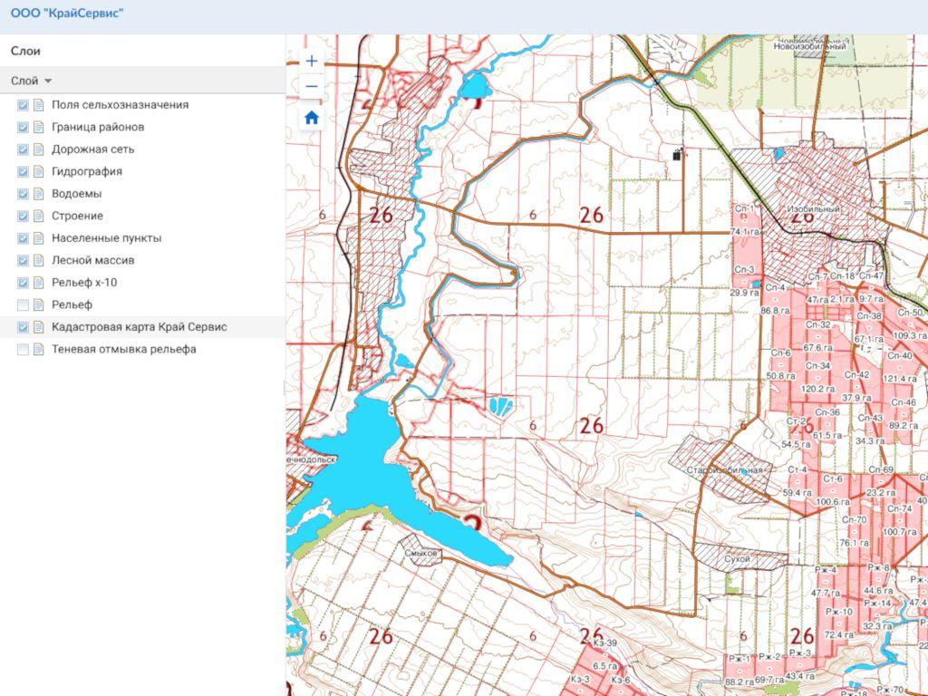 Размещение карта-схем на геопортале