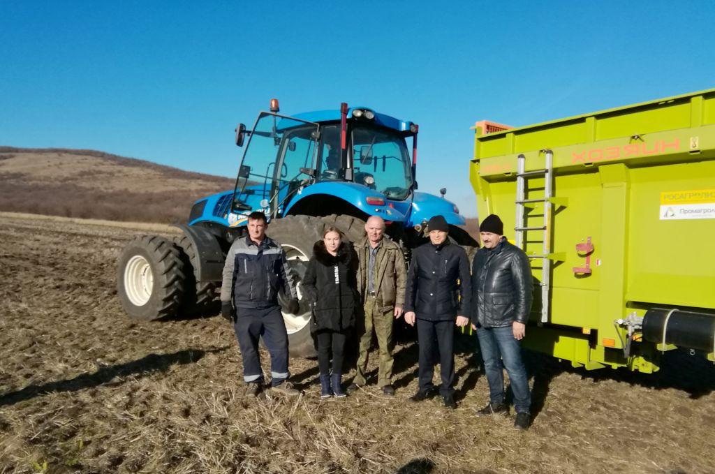 Закладка производственного опыта в  КФХ «СабынинГ.К.» Андроповского района