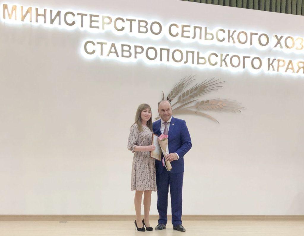 Памятное фото с Министром сельского хозяйства Владимиром Ситниковым