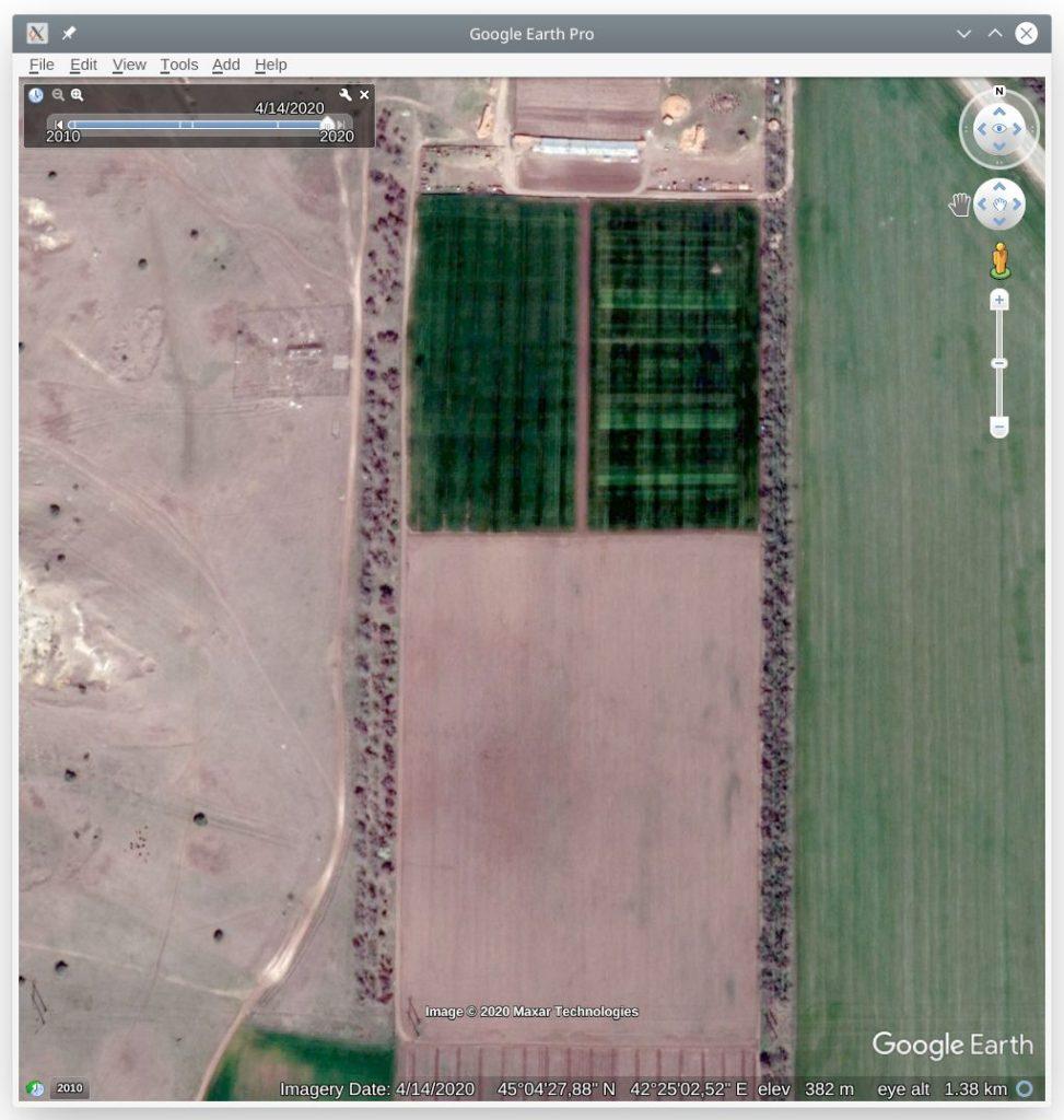 Космоснимок из Google Earth Pro на дату 2020-04-14