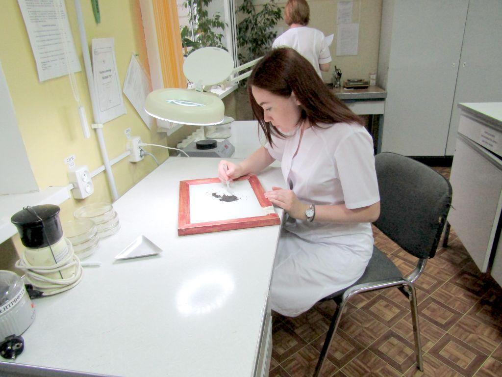 Определение сорной и масличной примеси. Ведущий агрохимик ИЦ (лаборатории) Наталья Бондаренко