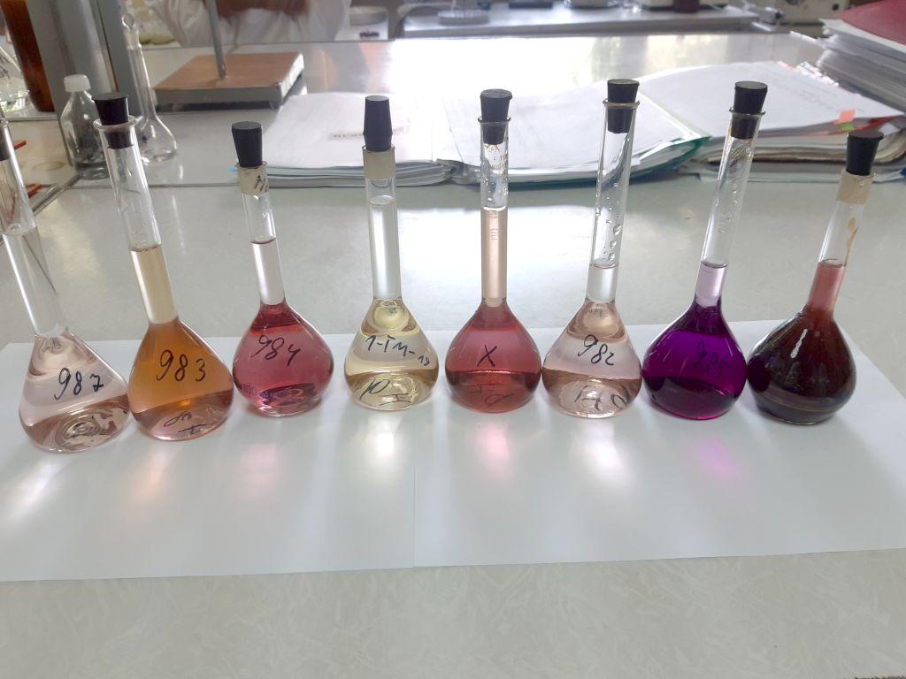 Диминерализаты проб удобрений для определения содержания ртути