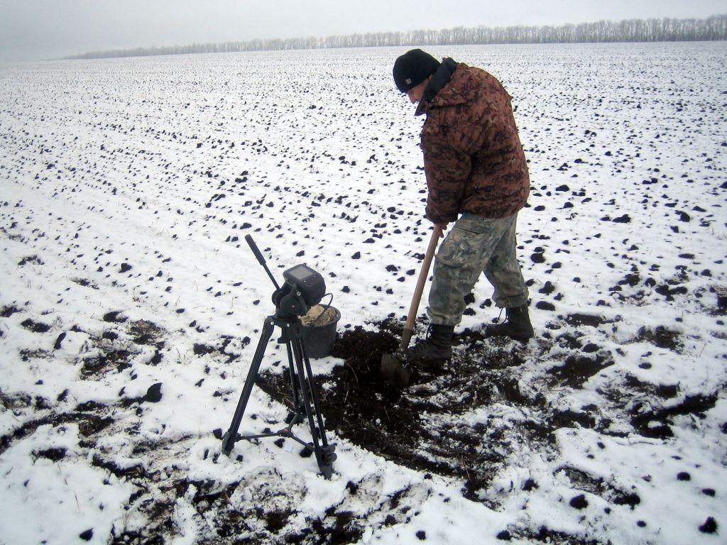 Отбор проб почв